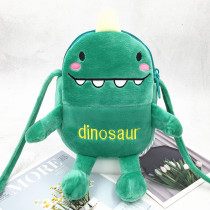 Green Dinosuar Robot Fashion Crossbody Shoulder Bags for Toddlers Kids Boy