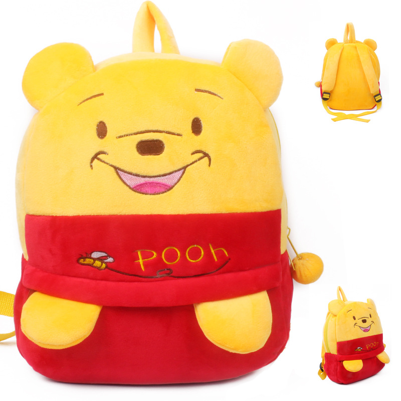 Kindergarten School Backpack Winnie the Pooh Bear School Bag For Toddlers Kids