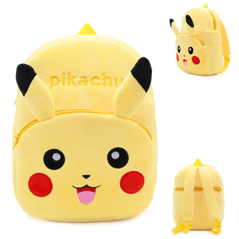 Kindergarten School Backpack Yellow Pikachu Pokemon School Bag For Toddlers Kids