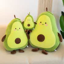 Green Avocado Soft Stuffed Plush Fruit Doll for Kids Gift