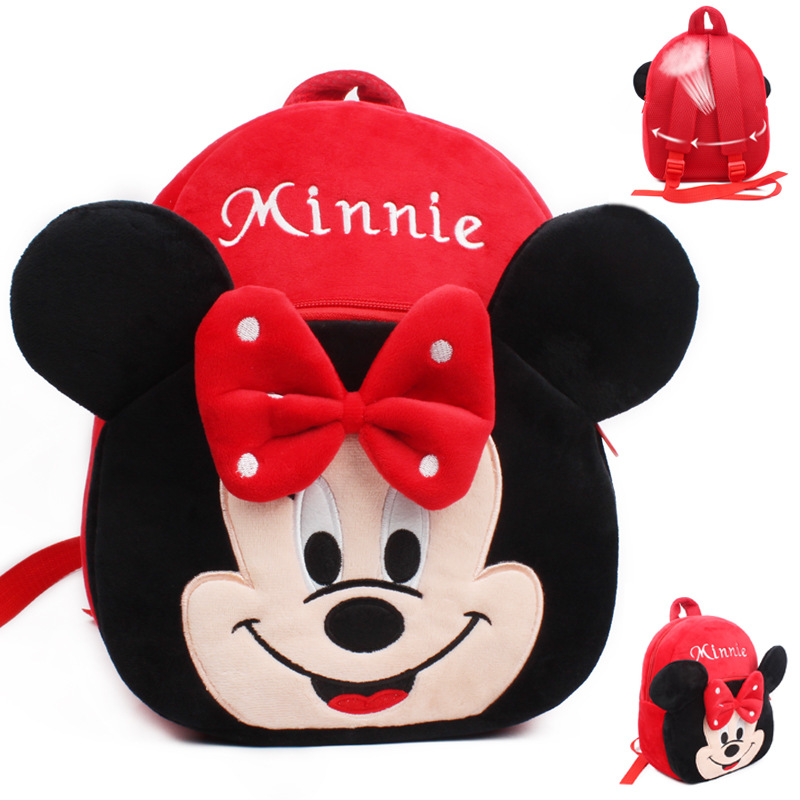 Kindergarten School Backpack Minnie School Bag For Toddlers Kids