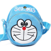 Blue Doraemon Plush Circle Crossbody Shoulder Bags for Toddlers Kids