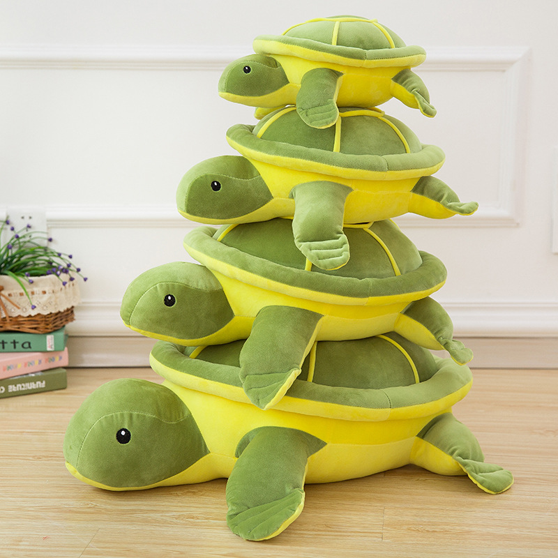 Green Tortoise Soft Stuffed Plush Animal Doll for Kids Gift
