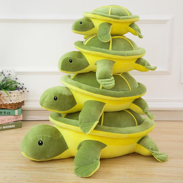 Green Tortoise Soft Stuffed Plush Animal Doll for Kids Gift