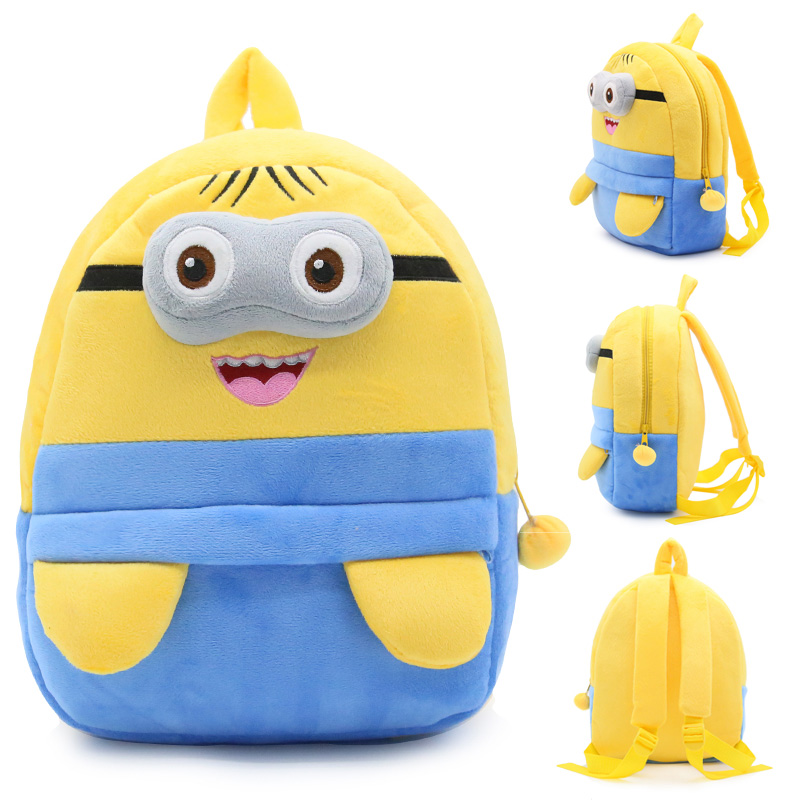 Kindergarten School Backpack Yellow Minions School Bag For Toddlers Kids