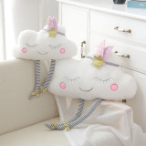 White Smail Face Cloud Soft Stuffed Plush Doll for Kids Gift
