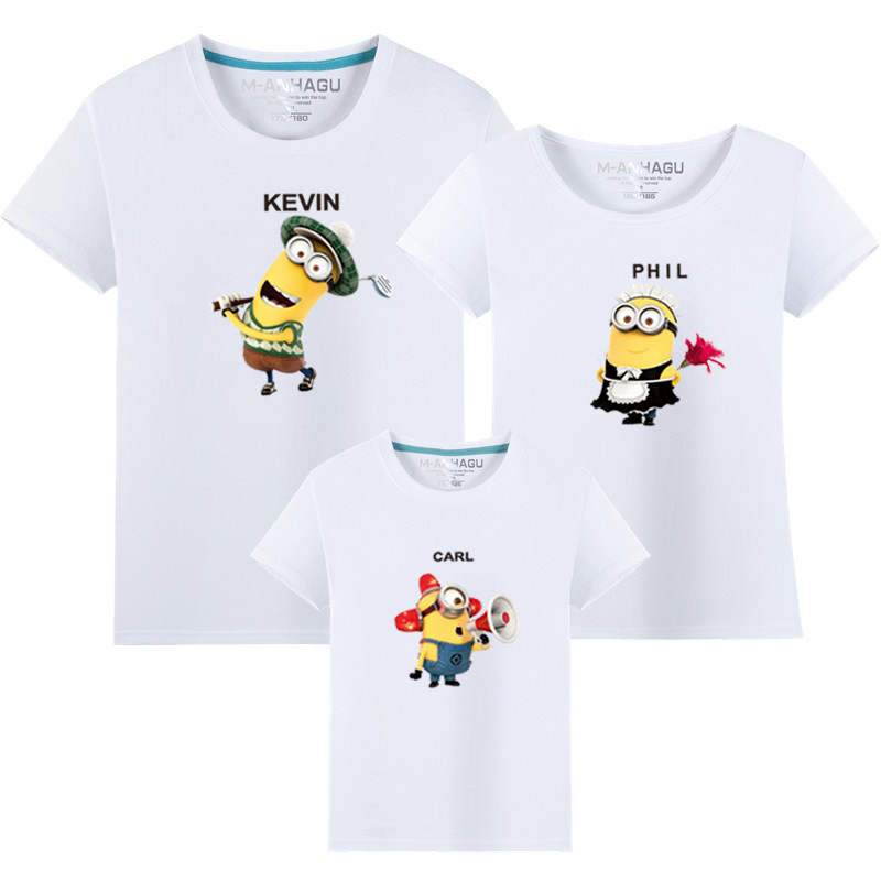Matching Family Prints Minions Famliy T-shirts Top