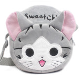 Chi's Sweet Home Cat Circle Crossbody Shoulder Bags for Toddlers Kids