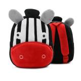 Kindergarten School Backpack Black Zebra Animal School Bag For Toddlers Kids