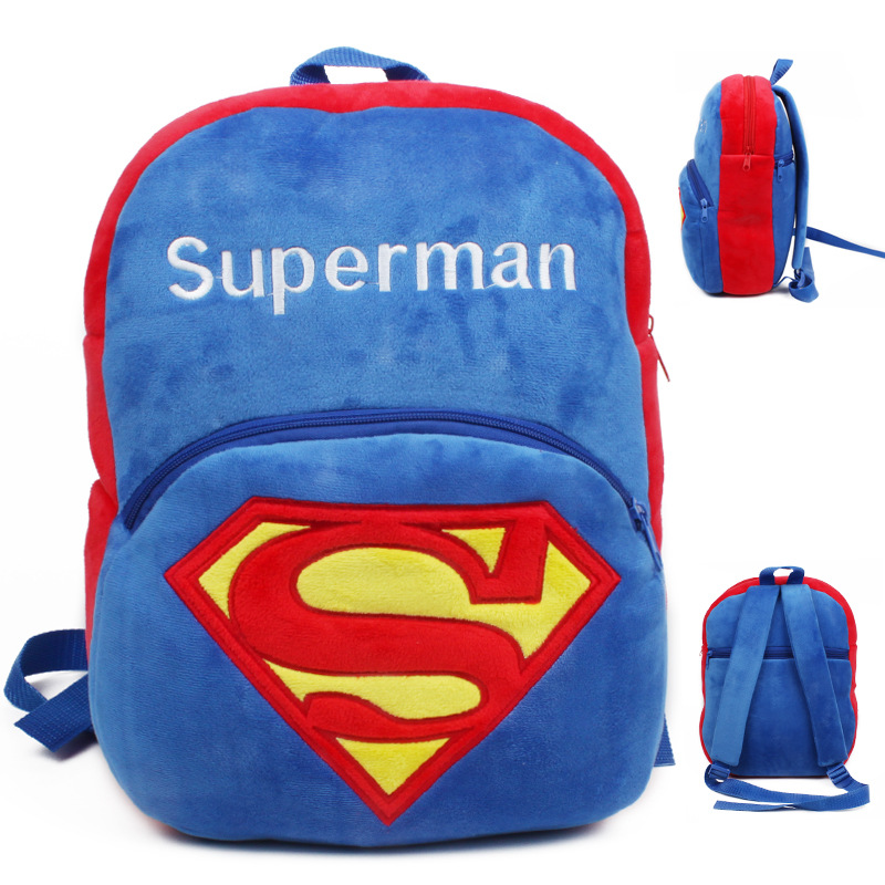 Kindergarten School Backpack Super Man School Bag For Toddlers Kids
