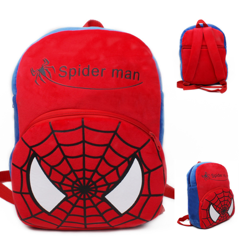 Kindergarten School Backpack Red Spider Man School Bag For Toddlers Kids