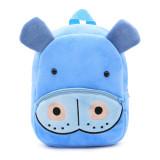 Kindergarten School Backpack Blue Hippo Animal School Bag For Toddlers Kids