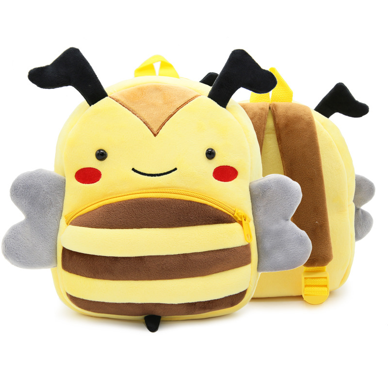 Kindergarten School Backpack Yellow Bee Animal School Bag For Toddlers Kids