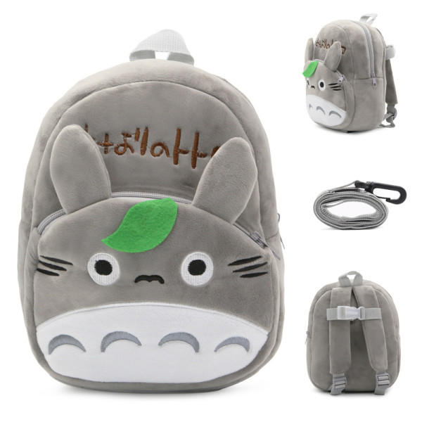 Kindergarten School Backpack Grey Totoro School Bag For Toddlers Kids