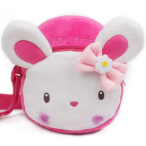 Pink Cute Rabbit Circle Crossbody Shoulder Bags for Toddlers Kids