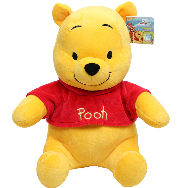 Orange Bear Winnie the Pooh Soft Stuffed Plush Animal Doll for Kids Gift