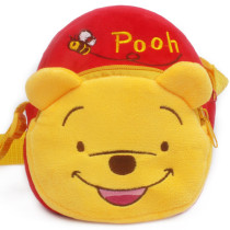 Yellow Winnie the Pooh Plush Circle Crossbody Shoulder Bags for Toddlers Kids