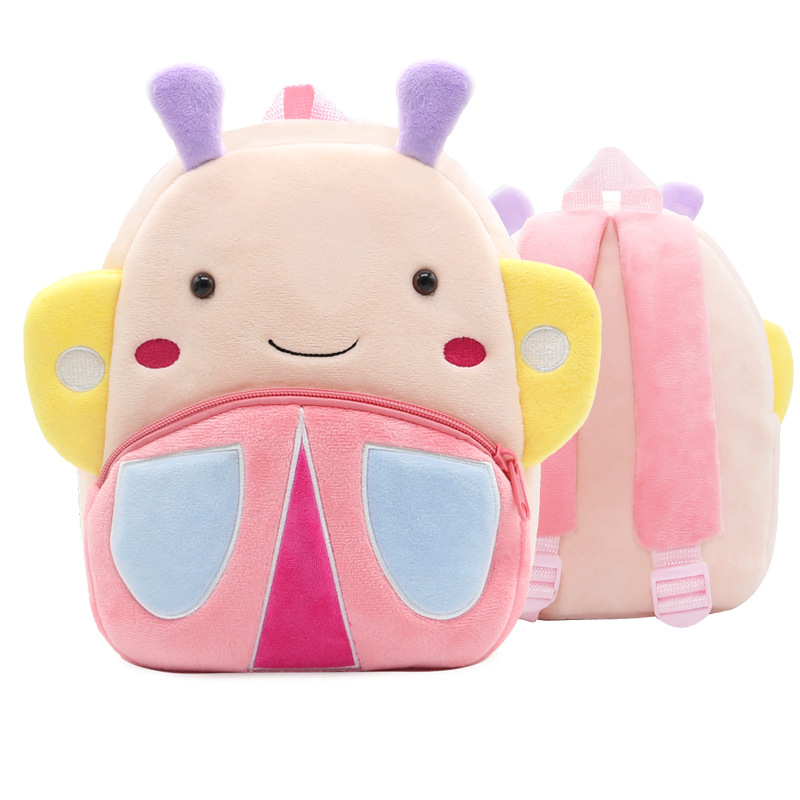 Kindergarten School Backpack Butterfly Animal School Bag For Toddlers Kids