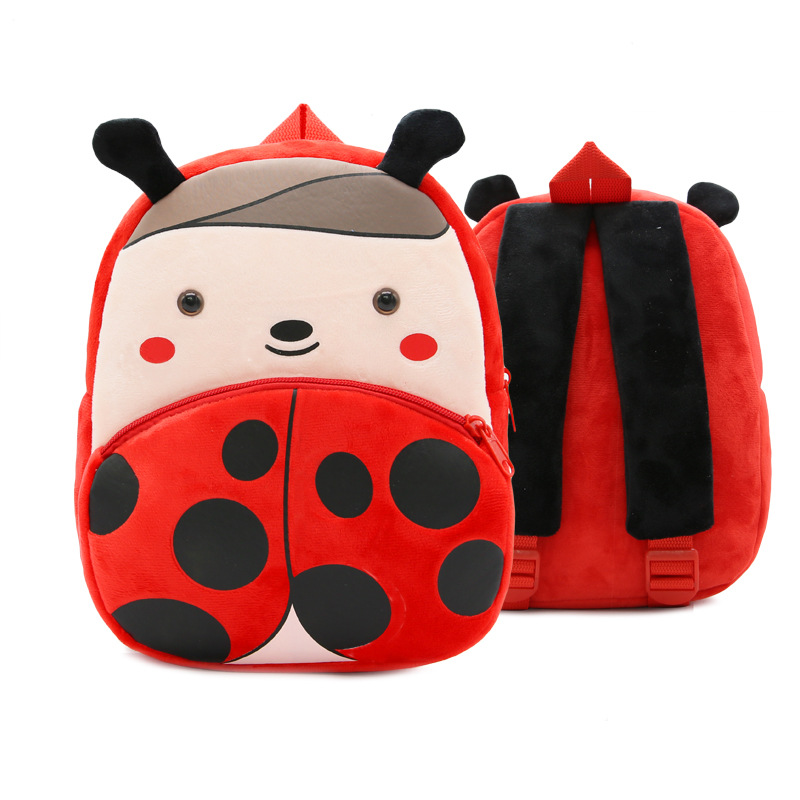 Kindergarten School Backpack Ladybug Animal School Bag For Toddlers Kids