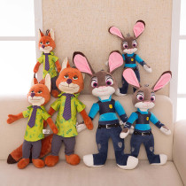 Zootopia Fox Rabbit Soft Stuffed Plush Animal Doll for Kids Gift