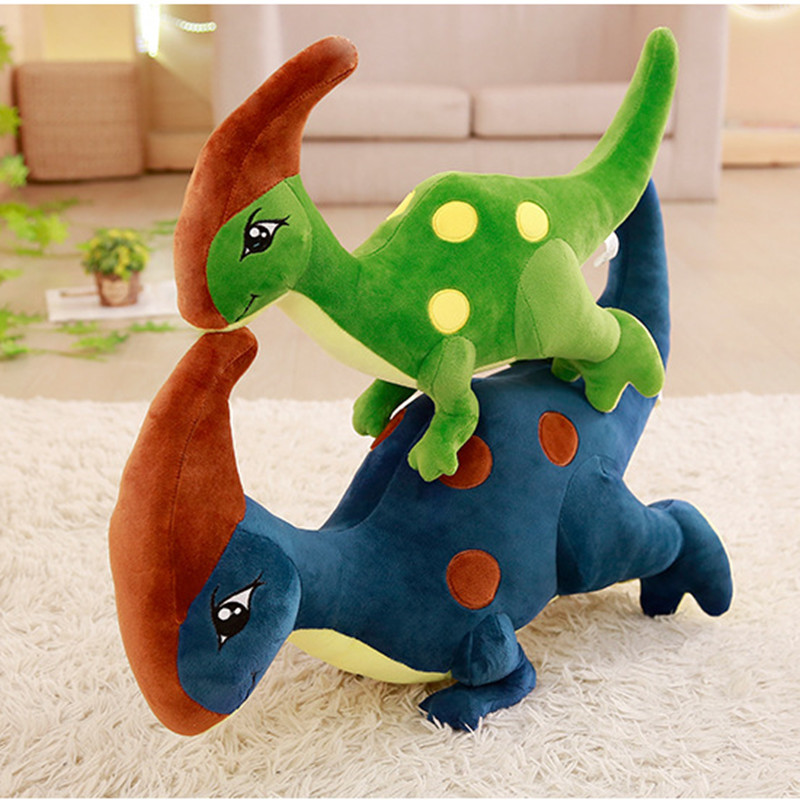 Jurassic Parasaurolophus Dinosaur Soft Stuffed Plush Animal Doll for Kids Gift