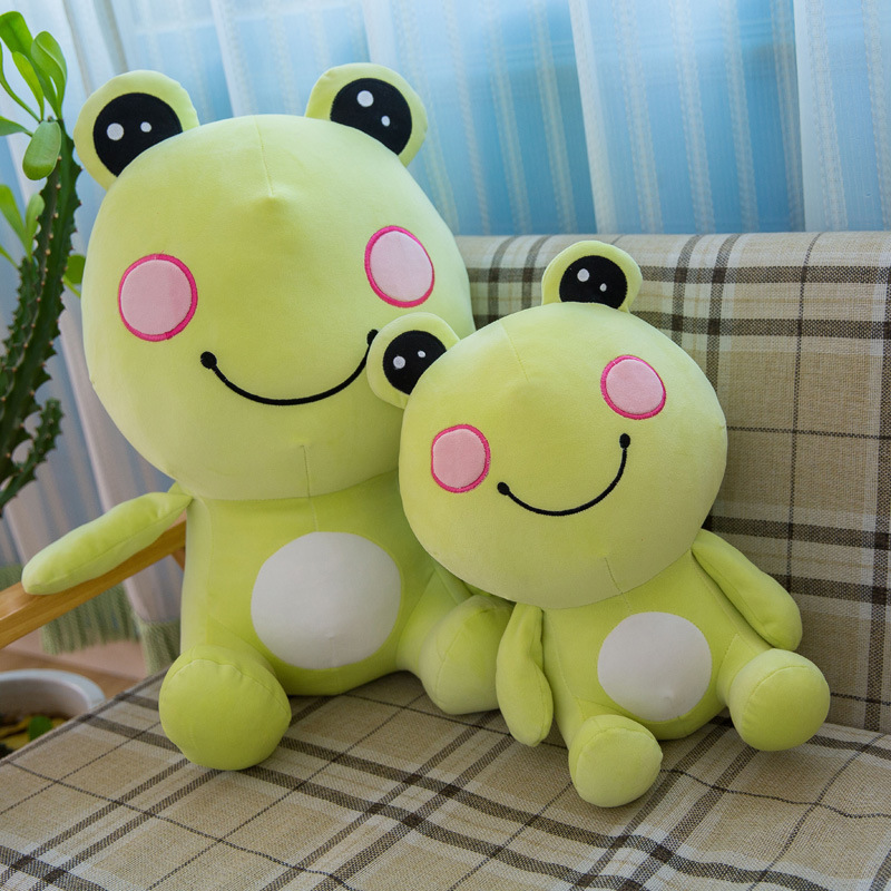 Green Frog Soft Stuffed Plush Animal Doll for Kids Gift