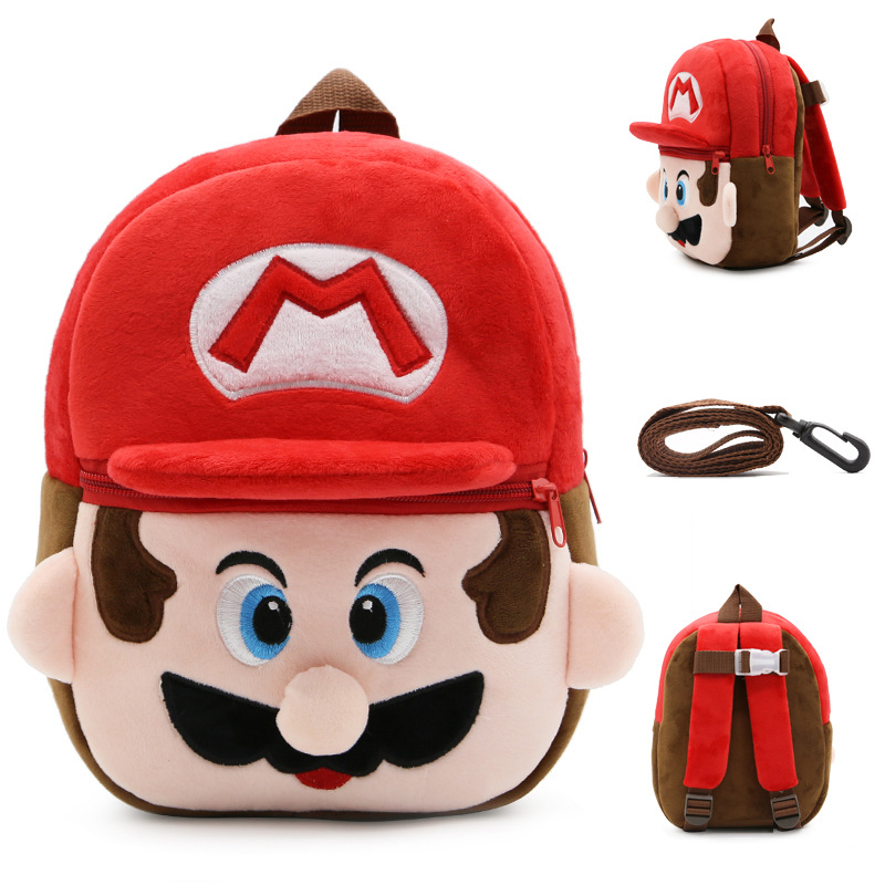 Kindergarten School Backpack Super Mario School Bag For Toddlers Kids