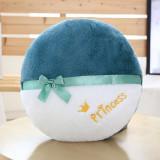 40CM Circle Soft Stuffed Plush Embroidery Princess Pillow for Kids