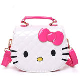 Hello Kitty Quilted Lining Plaid Crossbody Shoulder Handbag for Toddlers Kids