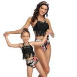 Mommy and Me Matching Swimwear Tassels Bikini Swimsuit