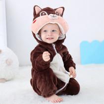 Brwon Squirrel Baby Onesie Kigurumi Pajamas Kids Animal Costumes for Unisex Baby