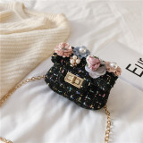 Fashion Flowers Pearls Crossbody Shoulder Bag for Toddlers Kids
