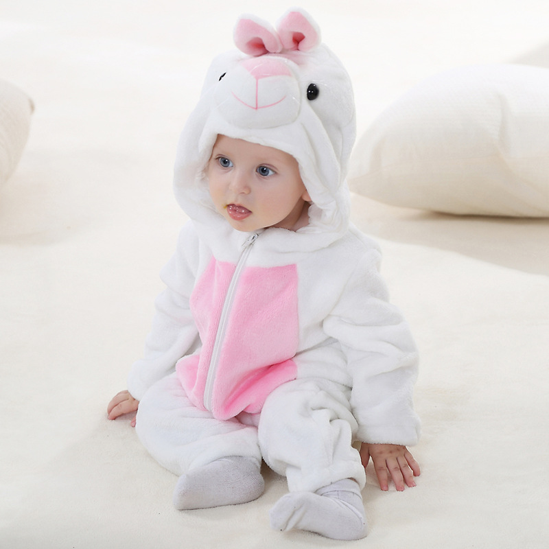 Baby Rabbit Onesie Kigurumi Pajamas Kids Animal Costumes for Unisex Baby