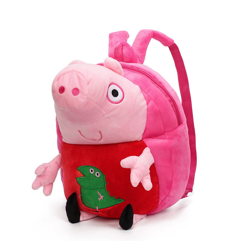 Kindergarten School Backpack Plush Peppa Pig Dinosaur School Bag For Toddlers Kids