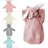 Newborn Baby Wrap Swaddle Knit Blanket Rabbit Sleeping Bag