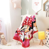 Print Rainbow Mickey Mouse Thicken Blanket Sleeping Cape