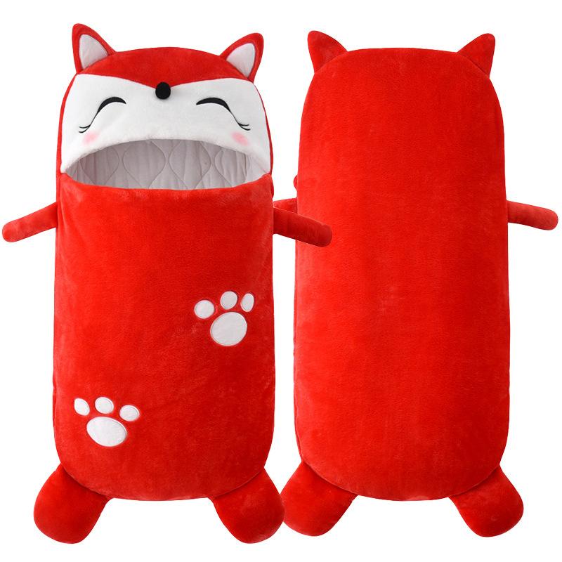 Newborn Baby Red Fox Thicken Cotton Flannel Sleeping Bag 0-24M
