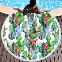 Prints Cactus Cotton Beach Towel Blanket Table Cover Wall Hanging
