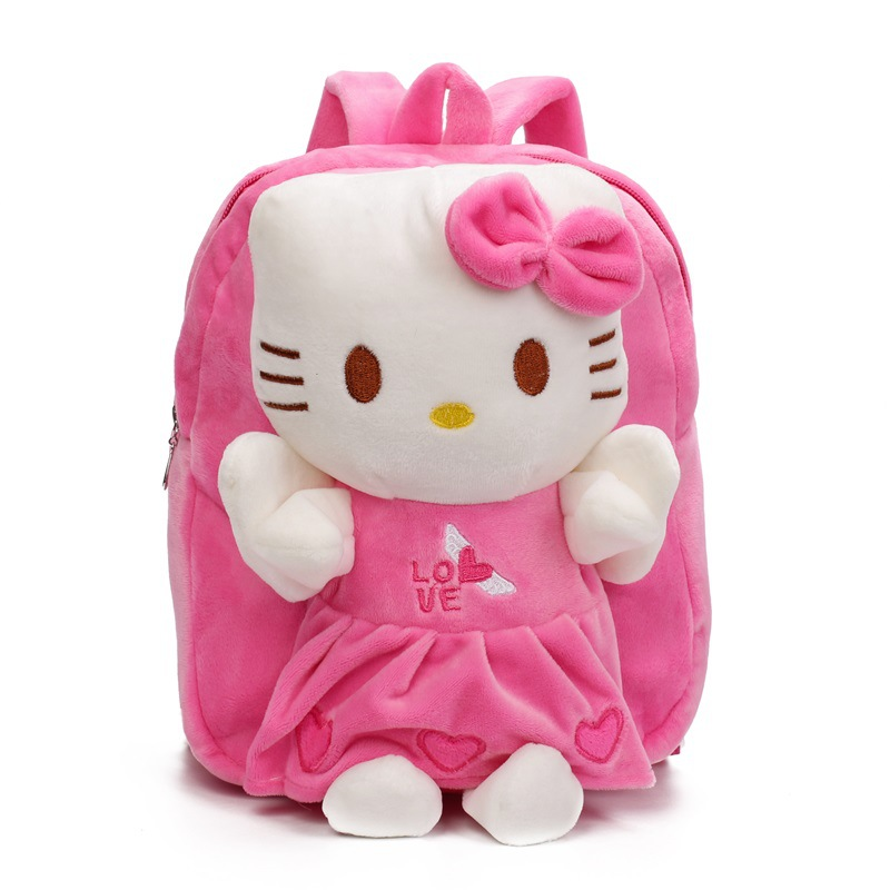 Kindergarten School Backpack Plush Hello Kitty School Bag For Toddlers Kids
