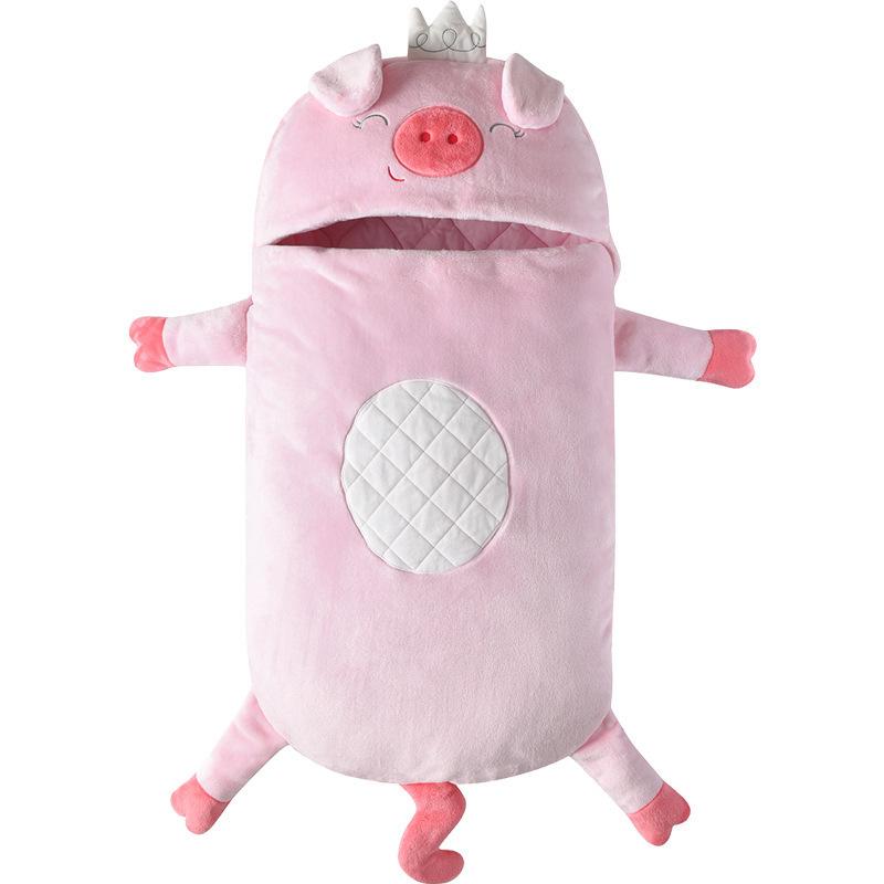 Newborn Baby Pink Pig Thicken Cotton Flannel Sleeping Bag 0-24M