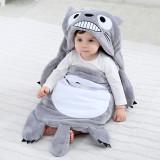 Newborn Baby Grey Totoro Minions Thicken Cotton Flannel Sleeping Bag 0-24M