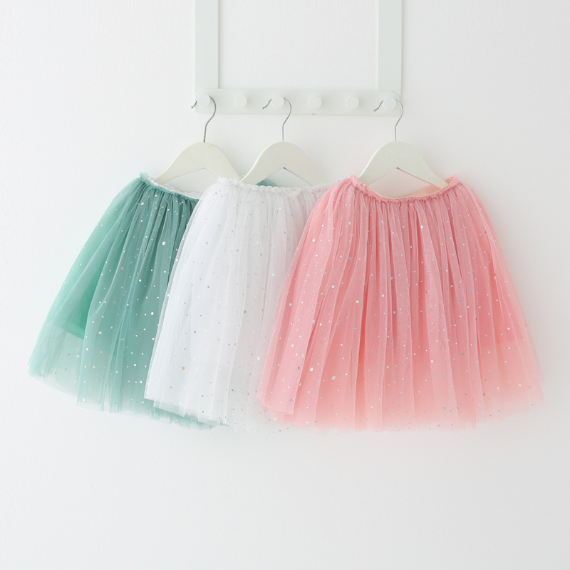 Kid Girl Multilayer Sequins Tutu Skirt