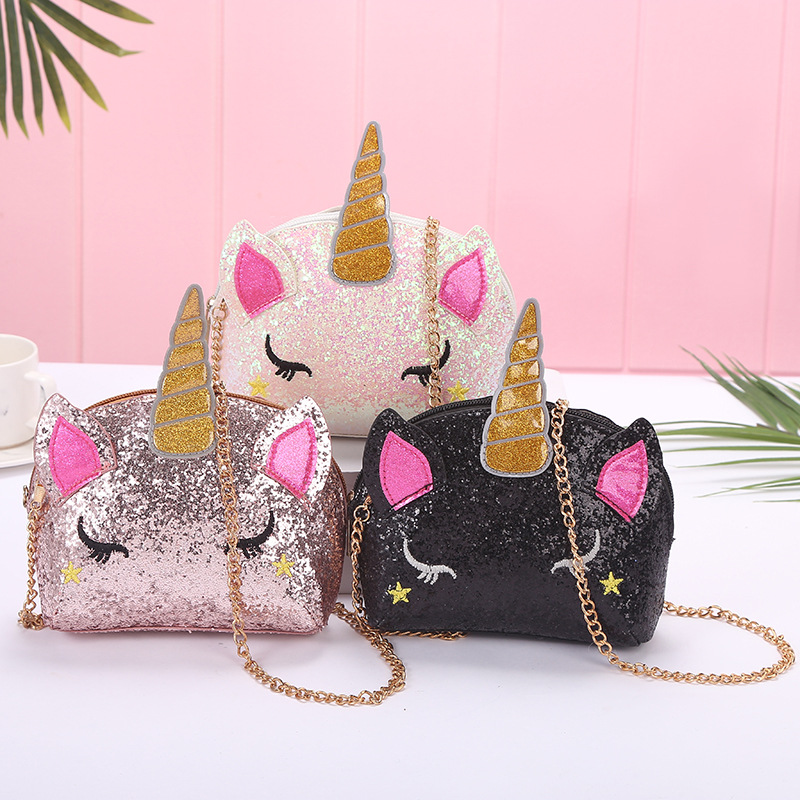 Sequins Unicorn Crossbody Shoulder Bag for Toddlers Kids