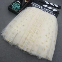 Kid Girl Gold Sequins Stars Tutu Skirt