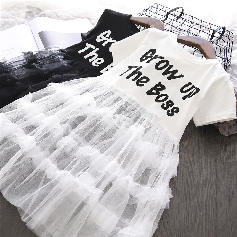 Toddler Girls Slogan T-shirt Top Matching Tutu Dress