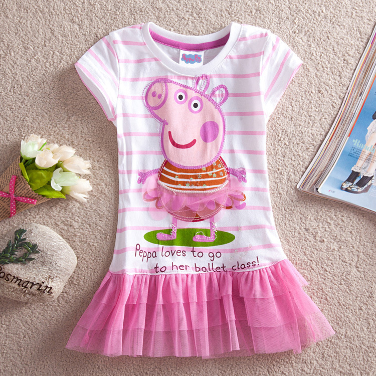 Toddler Girls Print Peppa Pig Stripes Tutu Dress