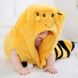 Newborn Baby Yellow Bee Thicken Cotton Flannel Sleeping Bag 0-24M