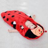 Newborn Baby Ladybug Thicken Cotton Flannel Sleeping Bag 0-24M