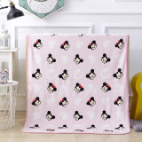 Print Pink Mickey Blanket Sleeping Cape