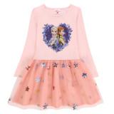 Toddler Girls Print Frozen Elsa Anna Princess Sequins Stars Long Sleeves Tutu Dress